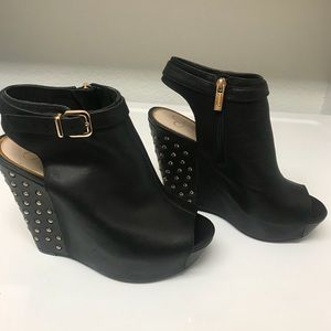 "Jessica Simpson ""Lowry"" Studded Wedge Booties"
